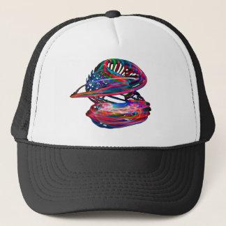 color twirl trucker hat