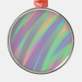 Color Twist Metal Ornament