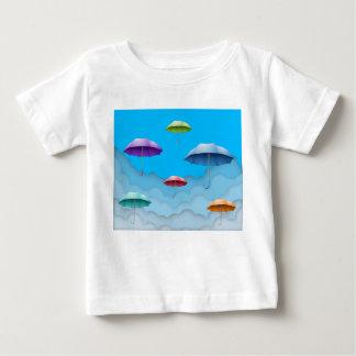 Color umbrellas baby t-shirt. t-shirt