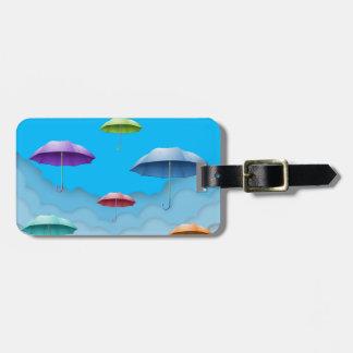 Color umbrellas luggage tag. travel bag tags