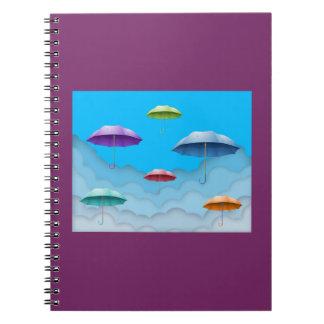 Color umbrellas notebook. notebook