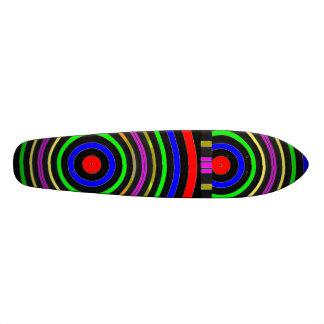 """Color VERDADERO: Ondas circulares de la energía Patineta 7 1/8"""""""