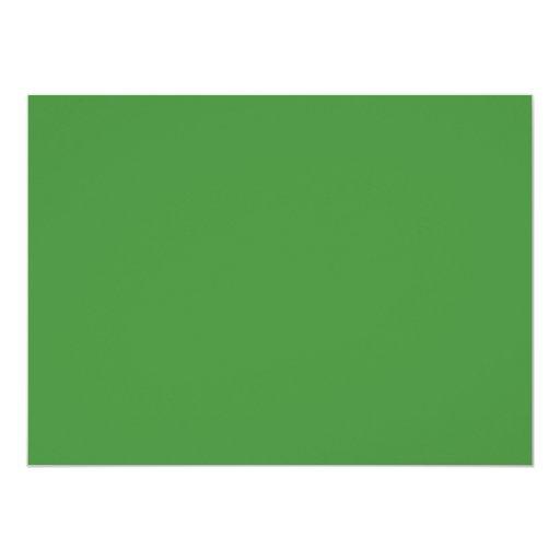 """Color verde 5,5 x 7,5 pulgadas invitación 5.5"""" x 7.5"""""""