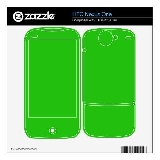 color verde claro simple HTC nexus one calcomanías