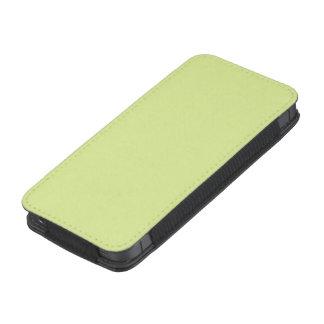 Color verde del limón del isótopo funda acolchada para iPhone