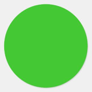color verde pegatina redonda