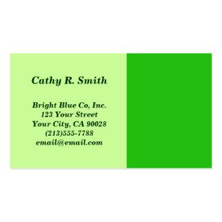 color verde tarjetas de visita
