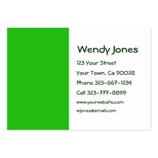 color verde plantillas de tarjetas de visita