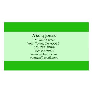 color verde tarjetas de negocios
