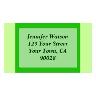 color verde tarjetas personales