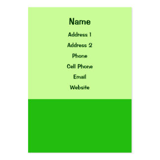 color verde tarjeta de visita