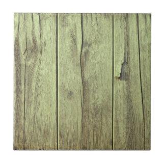 Color verde verde oliva de la textura de madera azulejo cuadrado pequeño
