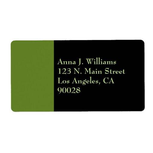 color verde verde oliva ligero etiqueta de envío