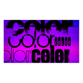 Color; Vibrant Violet Blue and Magenta Double-Sided Standard Business Cards (Pack Of 100)