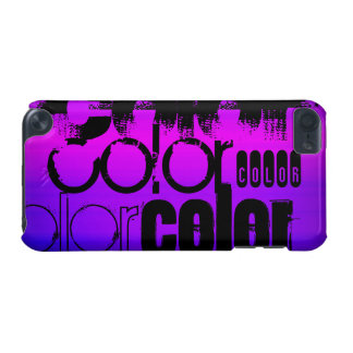 Color; Vibrant Violet Blue and Magenta iPod Touch 5G Cover