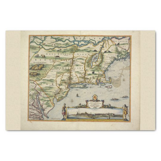 North Sea Europe Map.Color Vintage Europe North Sea Old World Map Tissue Paper Zazzle Com