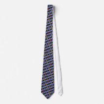 color vinyl records pattern neck tie