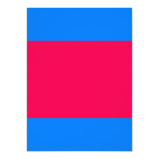 "Color Visual Adaptive Living Tools Sky Blue & Pink 5.5"" X 7.5"" Invitation Card"