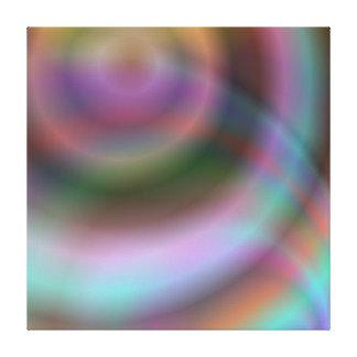 Color vortex design canvas print