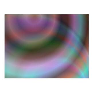 Color vortex design postcard