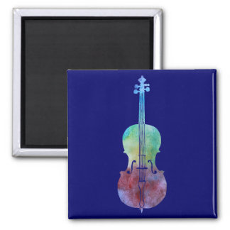 Color Washed Cello 2 Inch Square Magnet