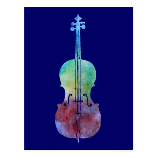 Color Washed Cello Postcard