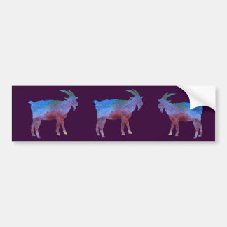 Color Washed Goats Bumper Sticker