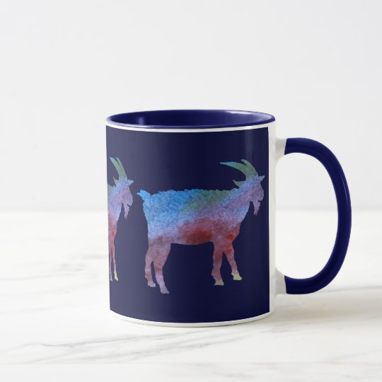 Color Washed Goats Mug