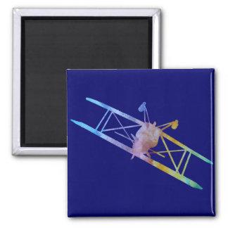 Color-washed Upside Down Stunt Plane Magnet