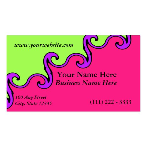 Color Wave Business Card