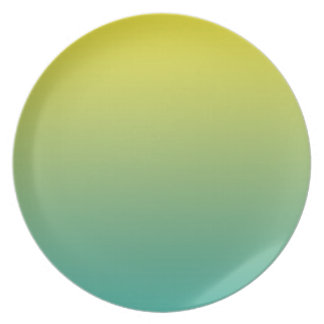 COLOR WAVE DESIGNS GREEN-YELLOW MELAMINE PLATE
