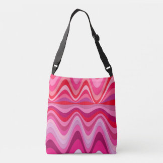 Color Wave forms Crossbody Bag