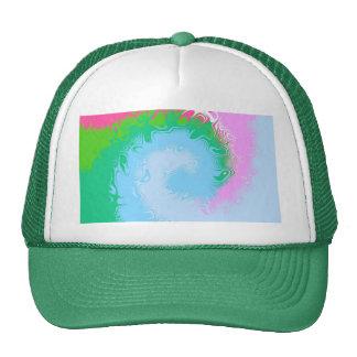 color wave trucker hat