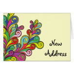 Color Waves Change of Address Greeting Card