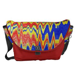 Color Waves  Large Messenger Bag Outside Print