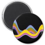Color Waves Refrigerator Magnets