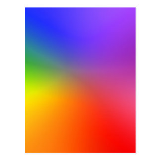 Color Wheel: Abstract Colors Postcard