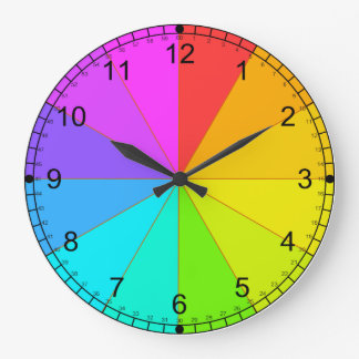 Color wheel and time teaching clock
