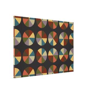 Color Wheel black Canvas Print