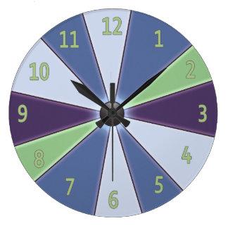 Color Wheel Blue Large Clock