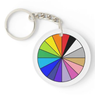 Color Wheel by EelKat Keychain
