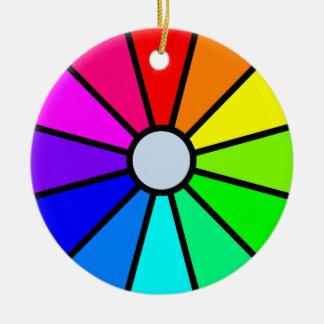 Color wheel ceramic ornament