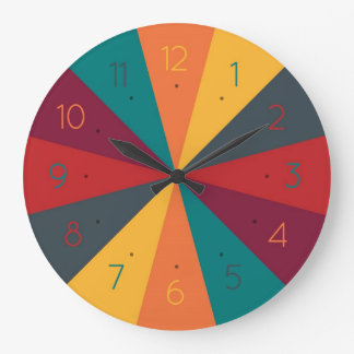 Color Wheel Creative Fun Wall Clock