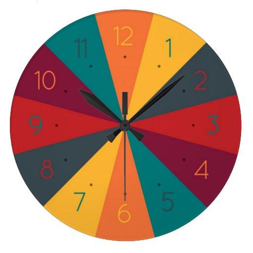Color wheel creative fun wall clock zazzle for Creative color wheel