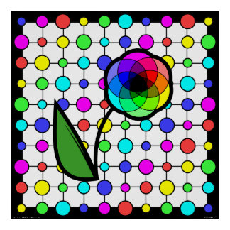 Color wheel daisy poster (Customizable!)