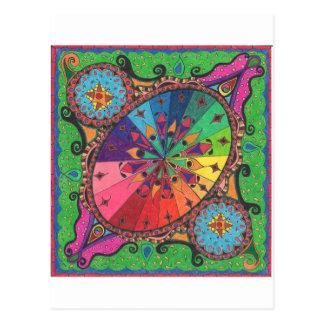 Color Wheel Design Postcard