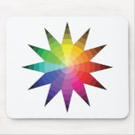 Color Wheel Explosion Mouse Pads
