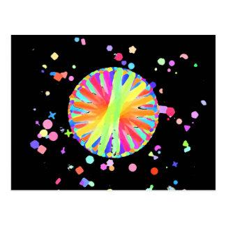 Color Wheel Gone Wild Postcard