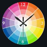 "Color wheel light large clock<br><div class=""desc"">Artist&#39;s color wheel -light</div>"