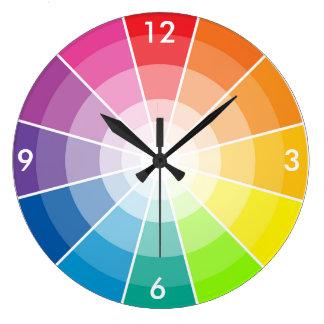 Color wheel light large clock